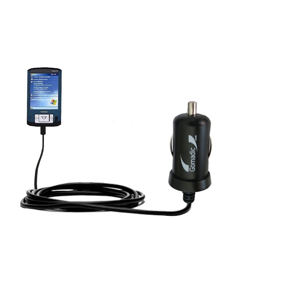Mini Car Charger compatible with the Toshiba e805