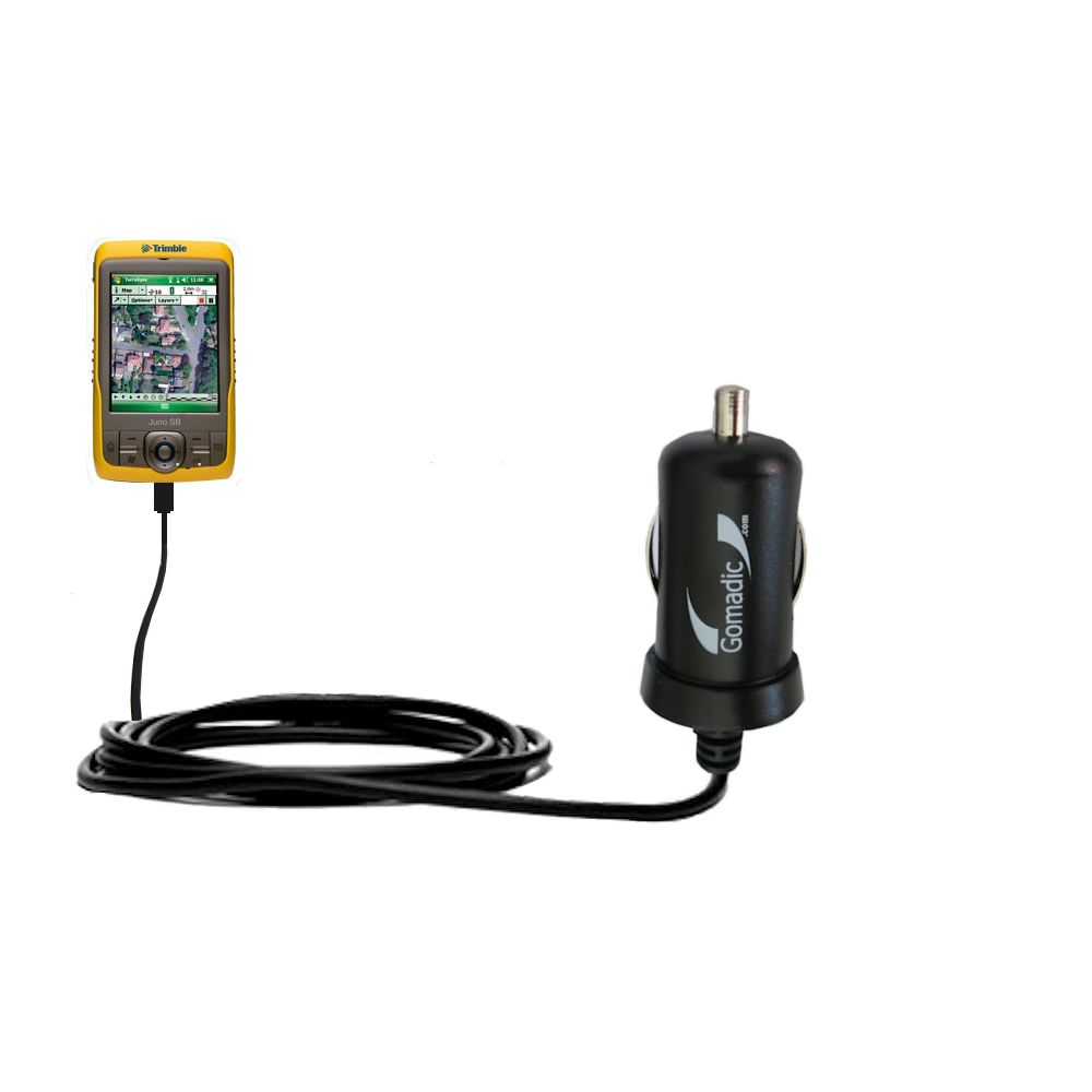 Mini Car Charger compatible with the Trimble Juno SB