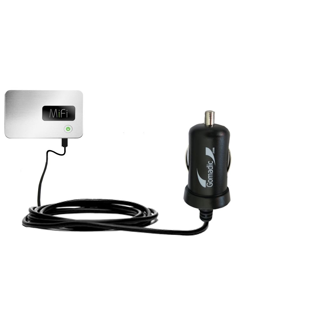 Gomadic Intelligent Compact Car / Auto DC Charger suitable for the Walmart Internet on the Go - 2A / 10W power at half the size. Uses Gomadic TipExchange Technology