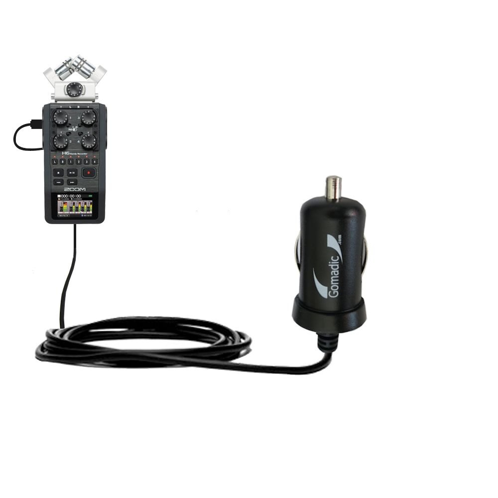 Mini Car Charger compatible with the Zoom H6