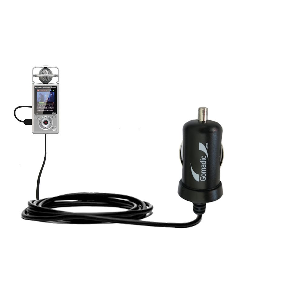 Mini Car Charger compatible with the Zoom Q2HD
