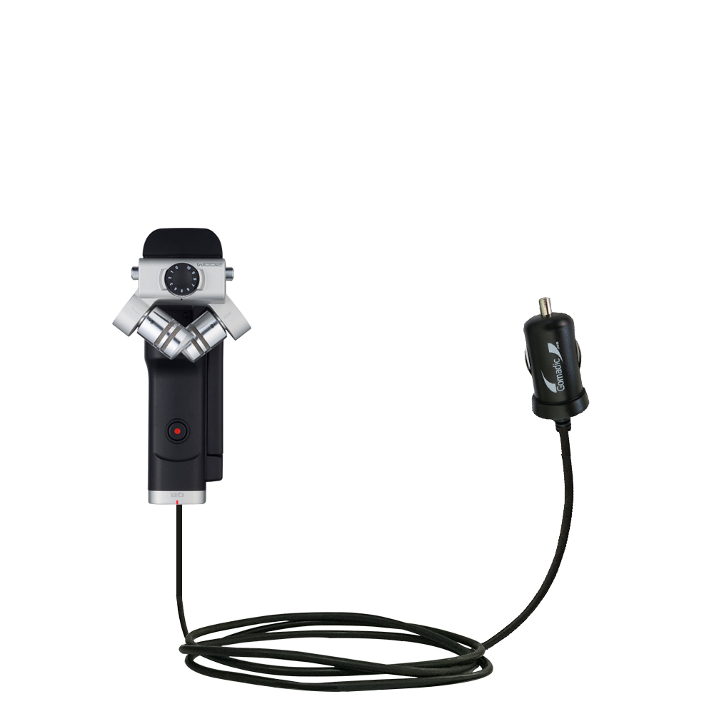Mini Car Charger compatible with the Zoom Q8 Handy Video Recorder