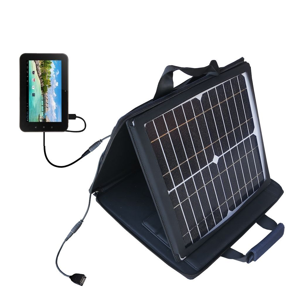 SunVolt Solar Charger compatible with the Android Allwinner A13 and one other device - charge from sun at wall outlet-like speed
