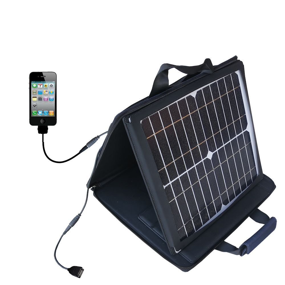 SunVolt Solar Charger compatible with the Apple iPhone 4 and one other device - charge from sun at wall outlet-like speed