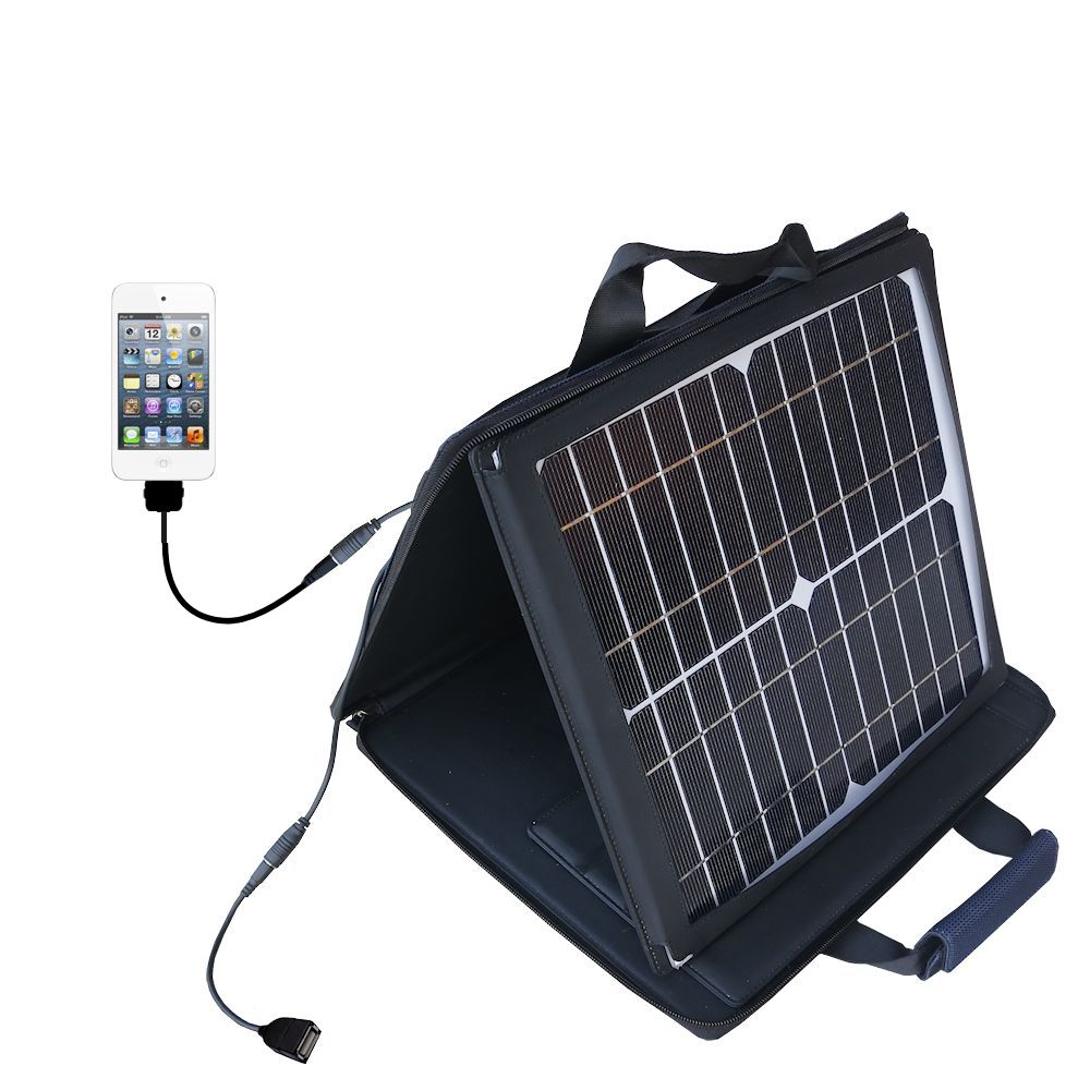 SunVolt Solar Charger compatible with the Apple iPod touch and one other device - charge from sun at wall outlet-like speed