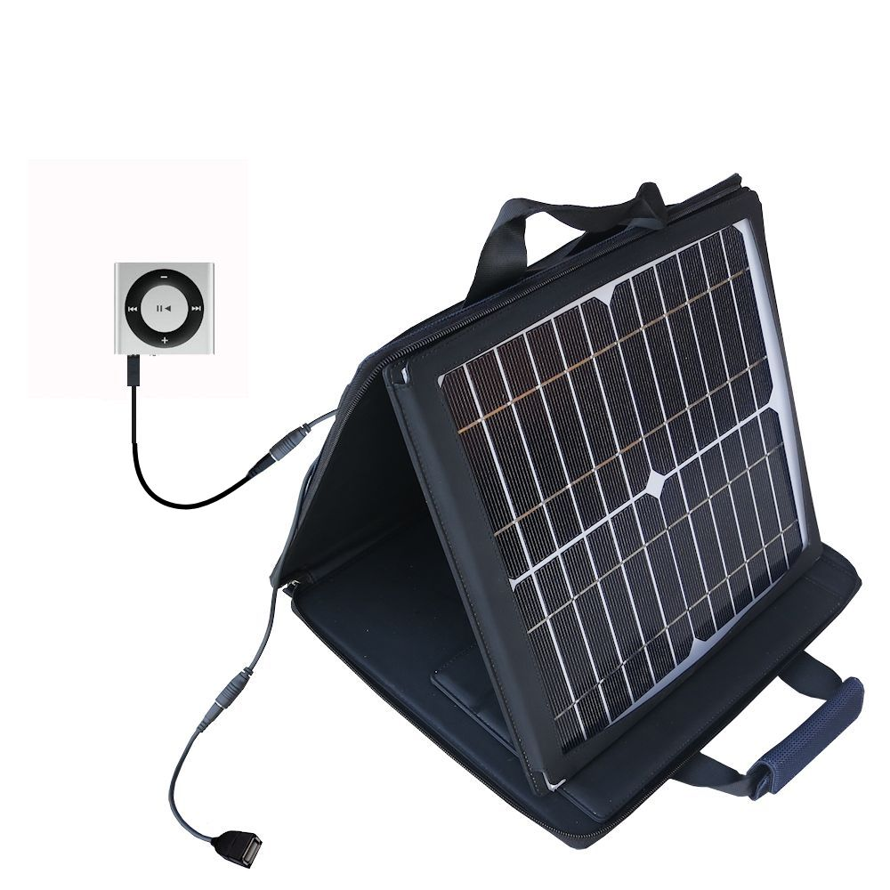 SunVolt Solar Charger compatible with the Apple Shuffle and one other device - charge from sun at wall outlet-like speed