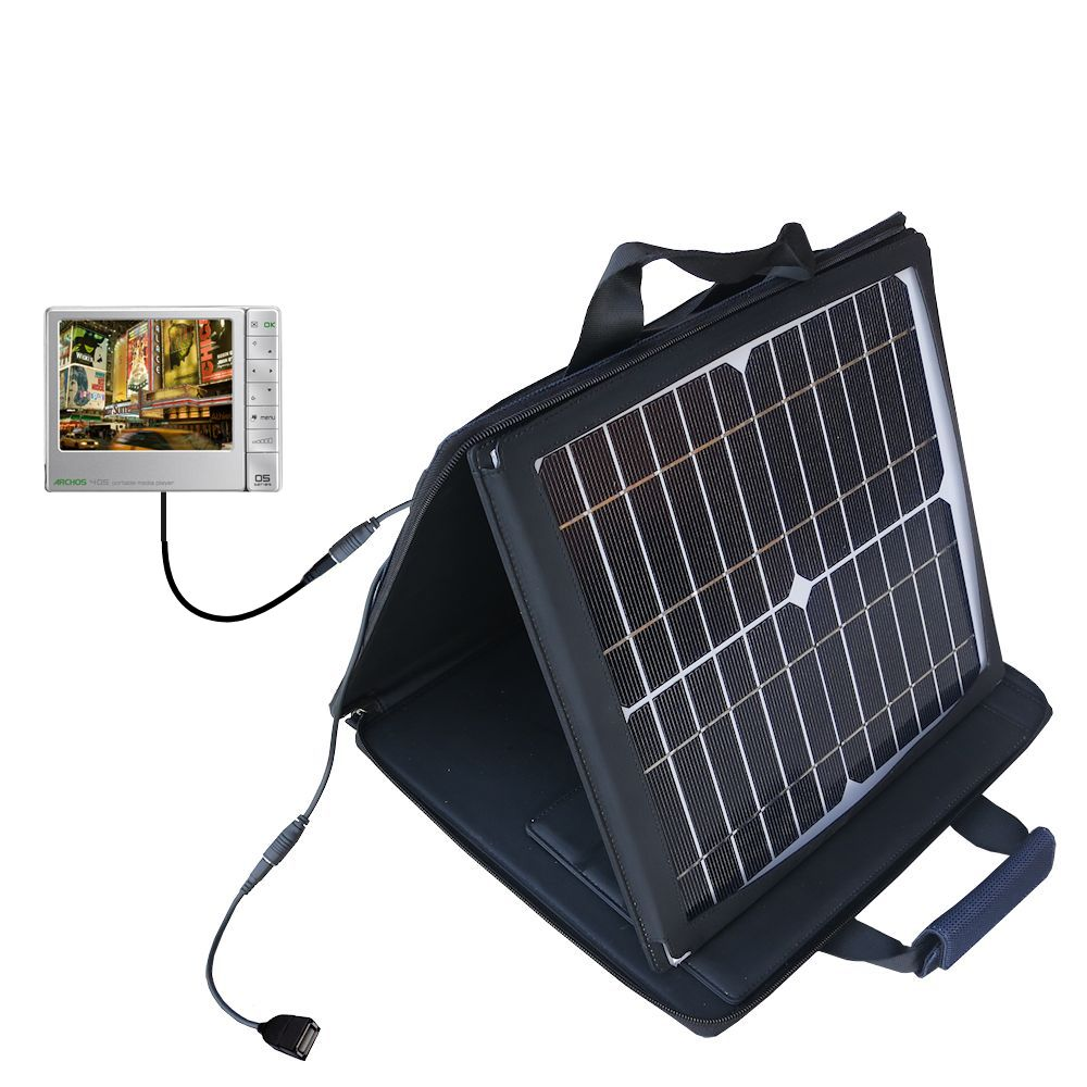 SunVolt Solar Charger compatible with the Archos 405 and one other device - charge from sun at wall outlet-like speed