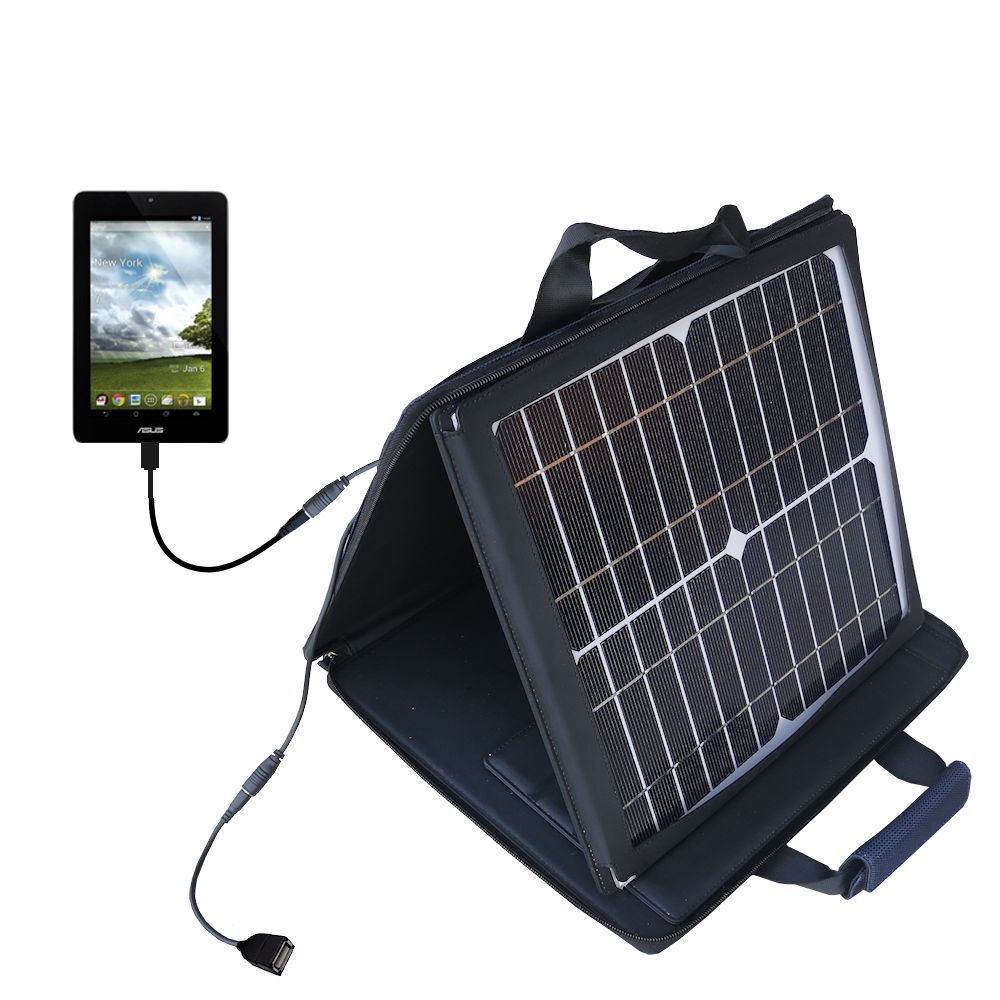 SunVolt Solar Charger compatible with the Asus FonePad and one other device - charge from sun at wall outlet-like speed