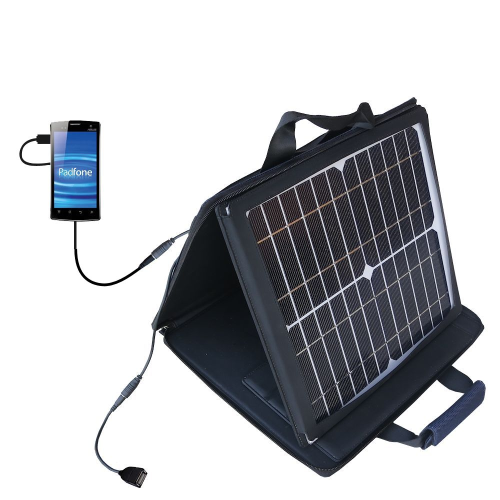 SunVolt Solar Charger compatible with the Asus PadFone and one other device - charge from sun at wall outlet-like speed