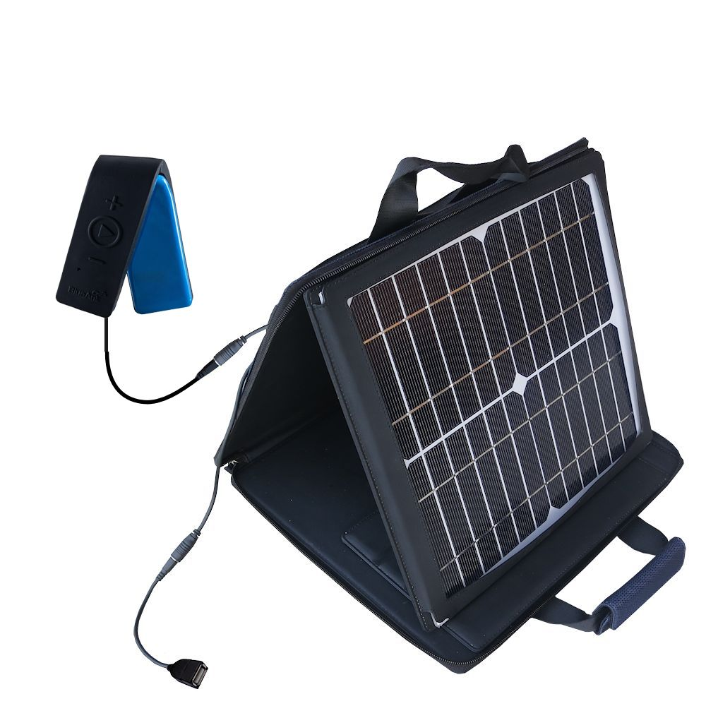 SunVolt Solar Charger compatible with the BlueAnt RIBBON and one other device - charge from sun at wall outlet-like speed