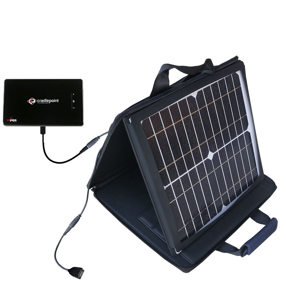 SunVolt Solar Charger compatible with the Cradlepoint PHS 300  and one other device - charge from sun at wall outlet-like speed