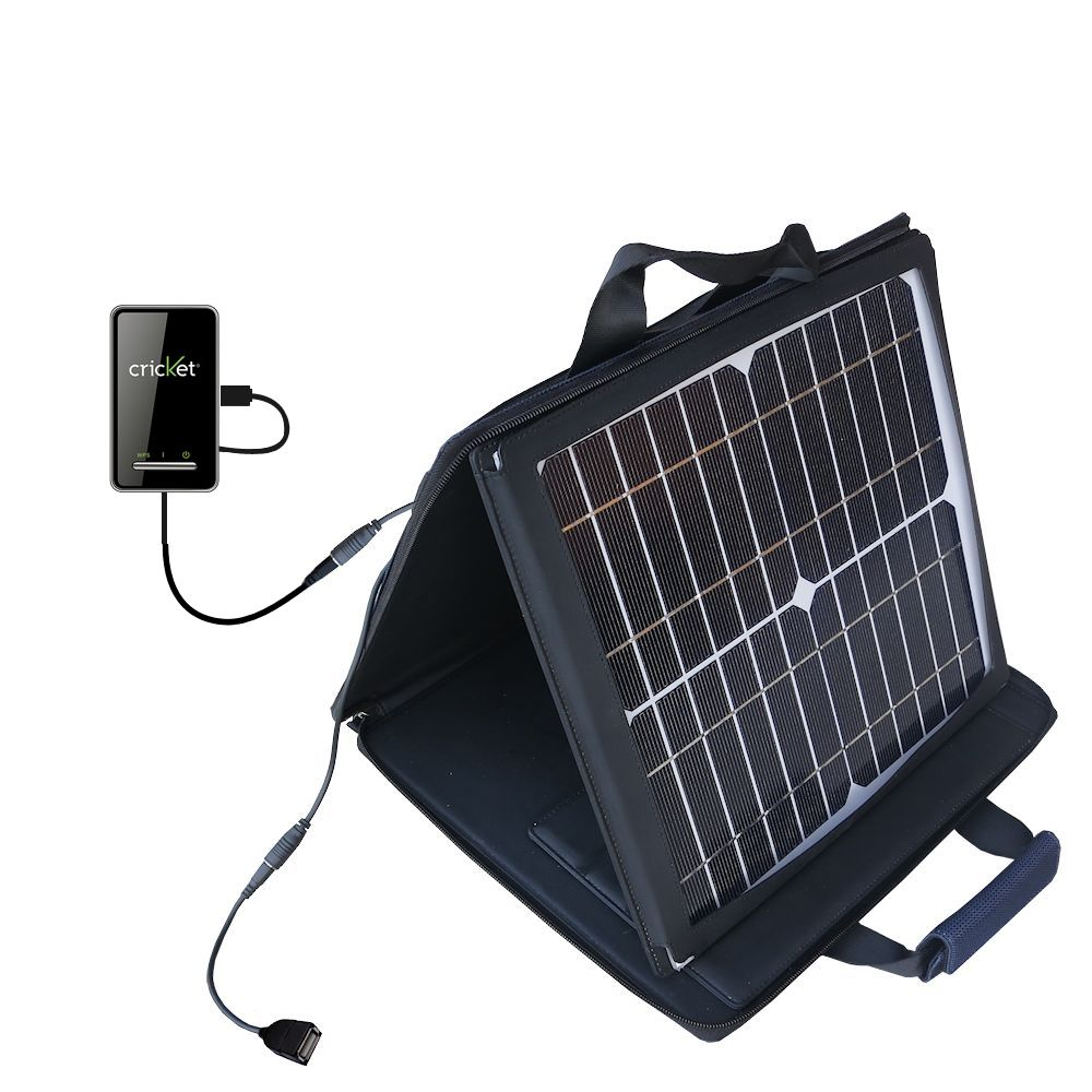 SunVolt Solar Charger compatible with the Cricket Crosswave WiFi Hotspot and one other device - charge from sun at wall outlet-like speed