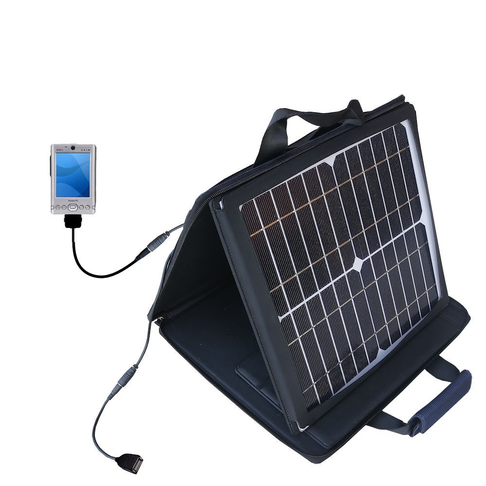 SunVolt Solar Charger compatible with the Dell Axim x3 x3i and one other device - charge from sun at wall outlet-like speed