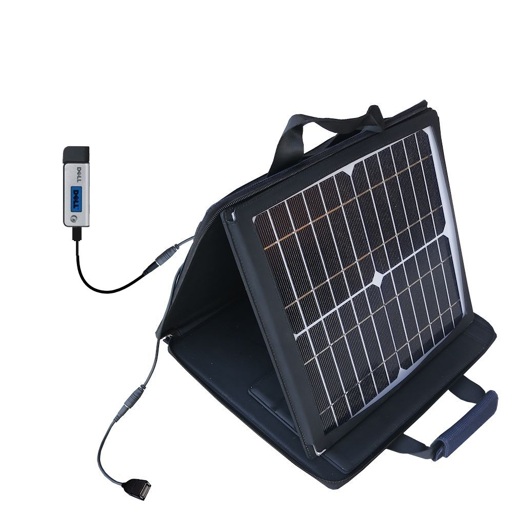 SunVolt Solar Charger compatible with the Dell DJ Ditty and one other device - charge from sun at wall outlet-like speed