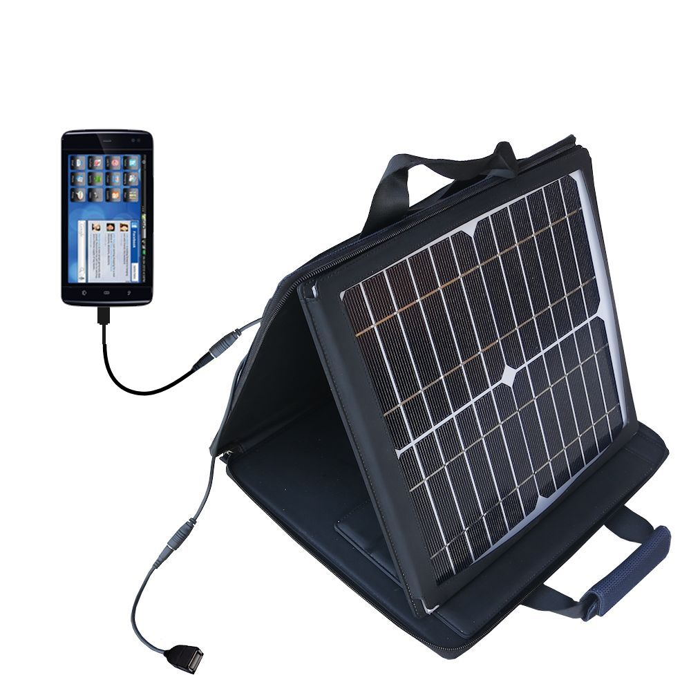 SunVolt Solar Charger compatible with the Dell Streak 5 and one other device - charge from sun at wall outlet-like speed