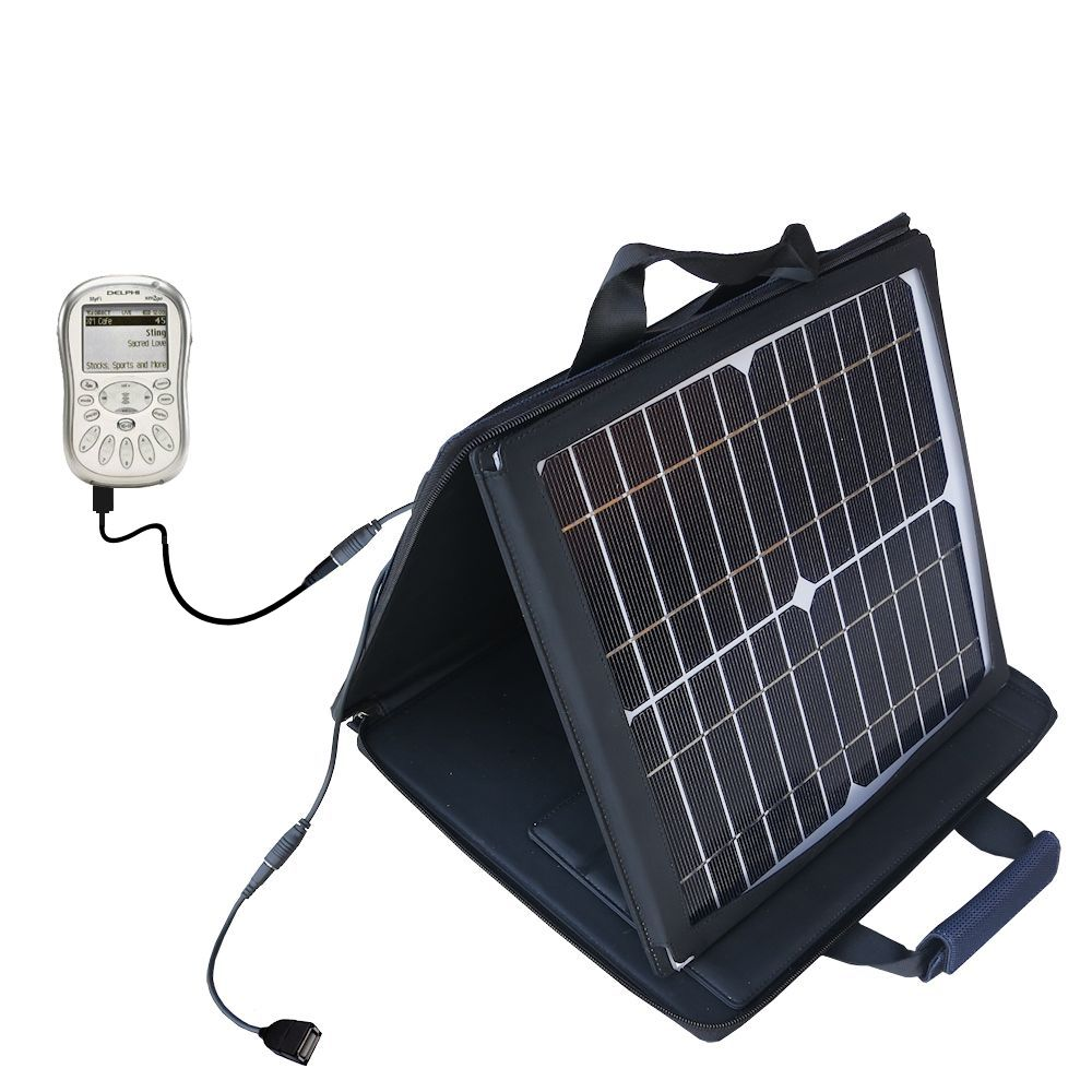 SunVolt Solar Charger compatible with the Delphi MyFi XM2 Go and one other device - charge from sun at wall outlet-like speed