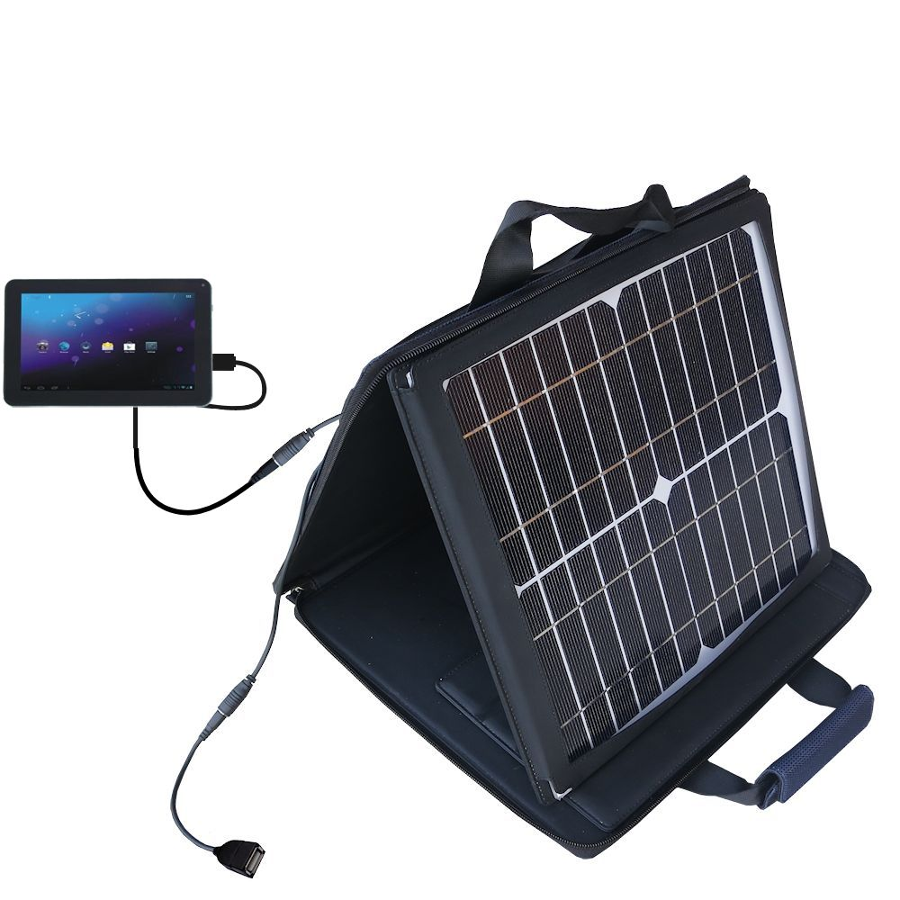SunVolt Solar Charger compatible with the Double Power DOPO M975 and one other device - charge from sun at wall outlet-like speed
