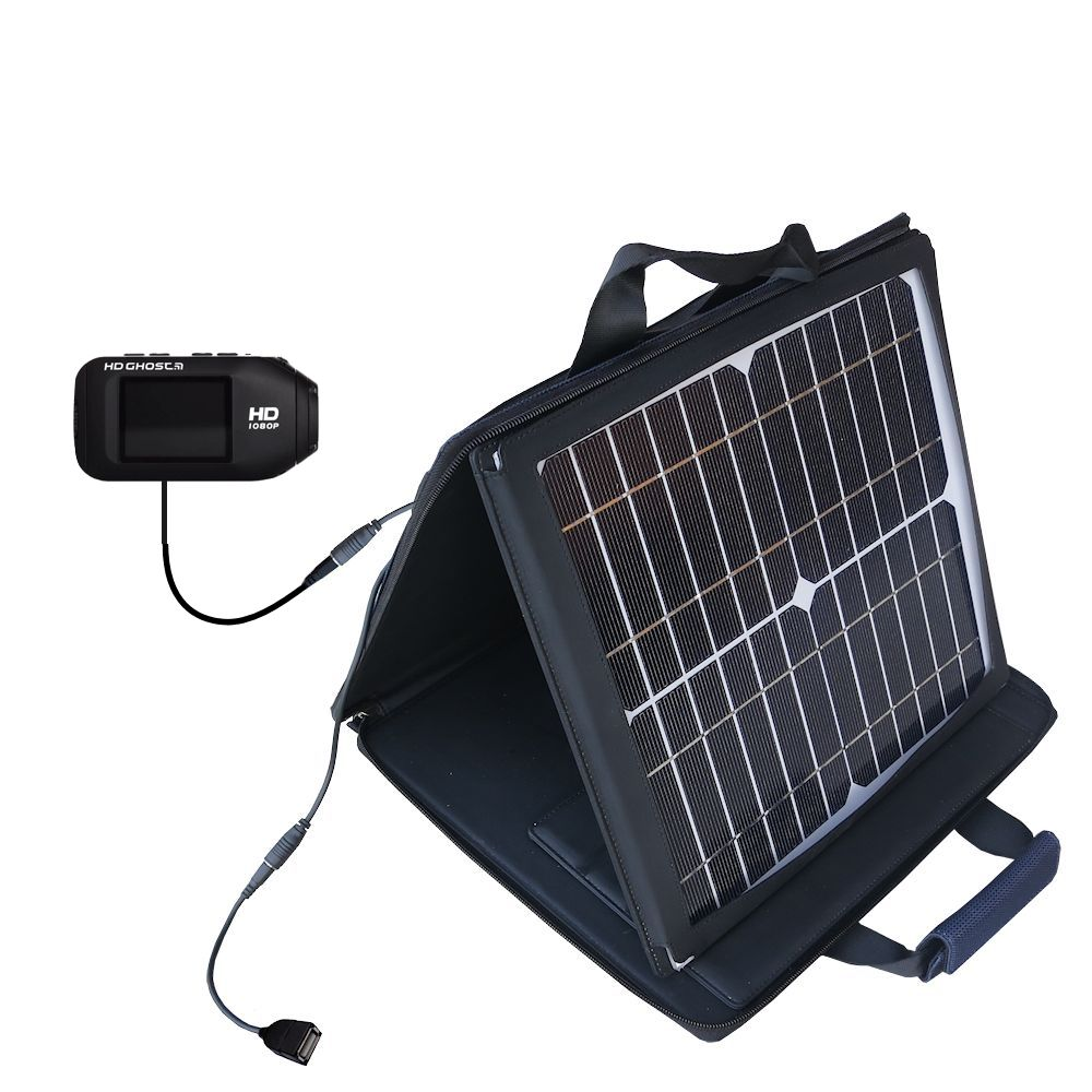 SunVolt Solar Charger compatible with the Drift HD / Ghost / 170 / 720 and one other device - charge from sun at wall outlet-like speed
