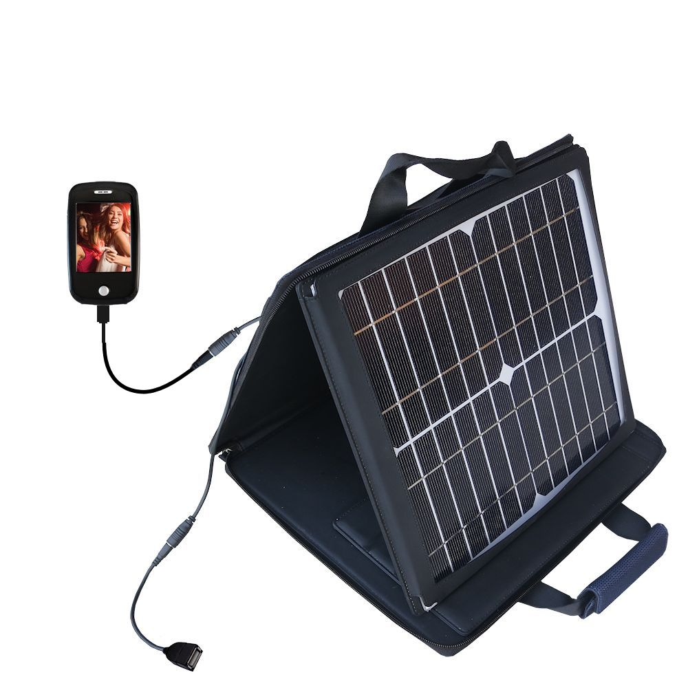 SunVolt Solar Charger compatible with the Ematic E6 Series and one other device - charge from sun at wall outlet-like speed
