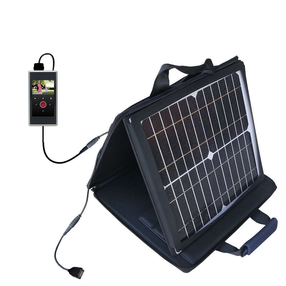 SunVolt Solar Charger compatible with the Flip SlideHD  and one other device - charge from sun at wall outlet-like speed