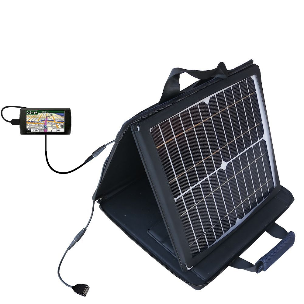 SunVolt Solar Charger compatible with the Garmin 295W and one other device - charge from sun at wall outlet-like speed