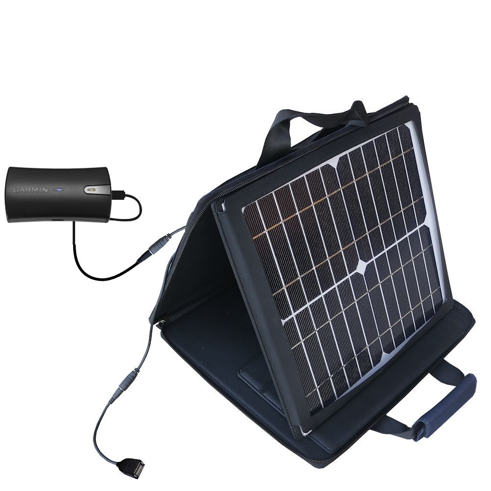 SunVolt Solar Charger compatible with the Garmin GLO and one other device - charge from sun at wall outlet-like speed