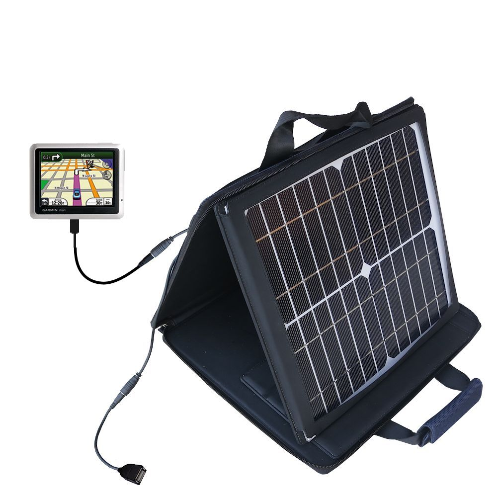 SunVolt Solar Charger compatible with the Garmin Nuvi 1200 1210 and one other device - charge from sun at wall outlet-like speed