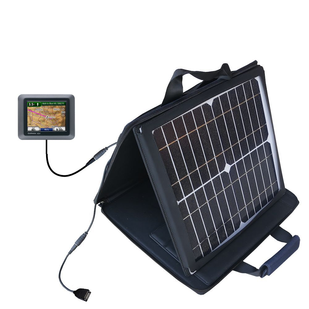 SunVolt Solar Charger compatible with the Garmin Nuvi 500 and one other device - charge from sun at wall outlet-like speed