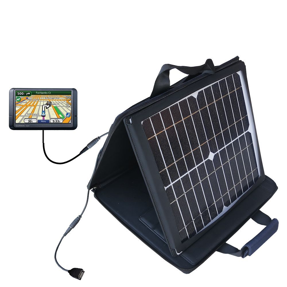 SunVolt Solar Charger compatible with the Garmin Nuvi 780 and one other device - charge from sun at wall outlet-like speed