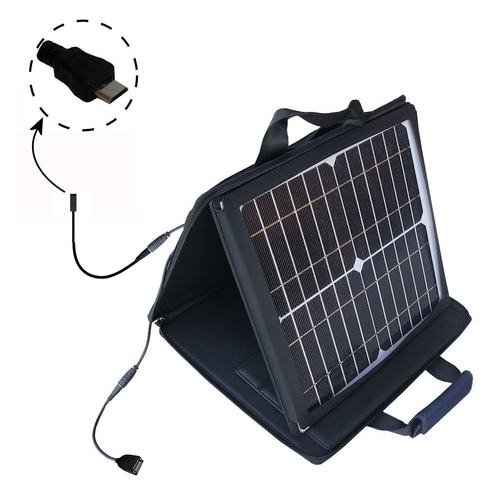 SunVolt Solar Charger compatible with the Gomadic micro USB Devices and one other device - charge from sun at wall outlet-like speed
