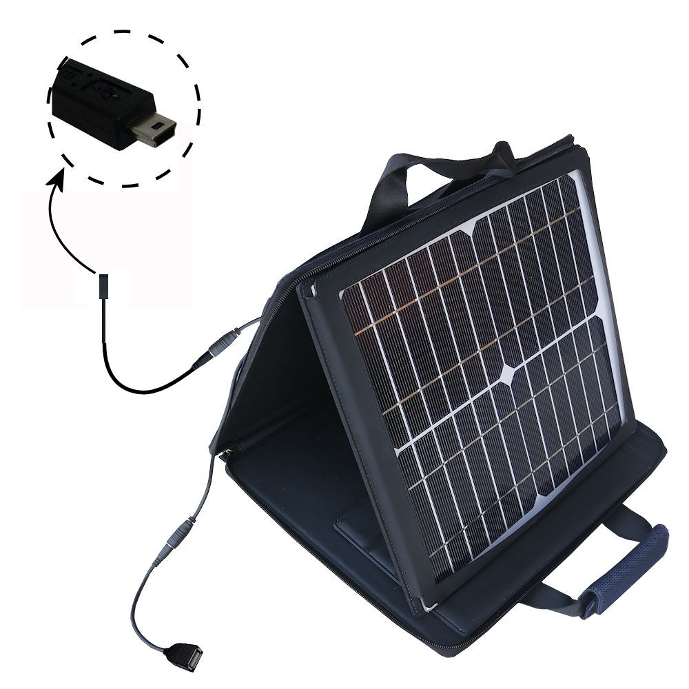 SunVolt Solar Charger compatible with the Gomadic mini USB Devices and one other device - charge from sun at wall outlet-like speed