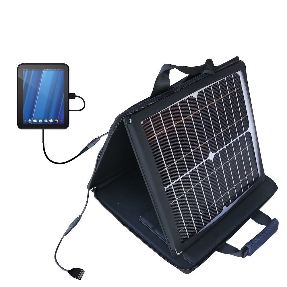 SunVolt Solar Charger compatible with the HP TouchPad and one other device - charge from sun at wall outlet-like speed