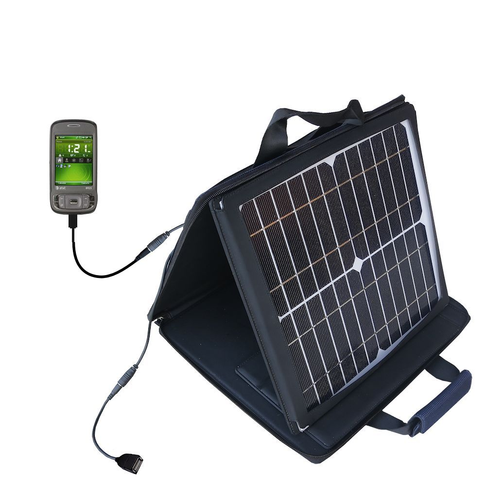 SunVolt Solar Charger compatible with the HTC 8925 and one other device - charge from sun at wall outlet-like speed