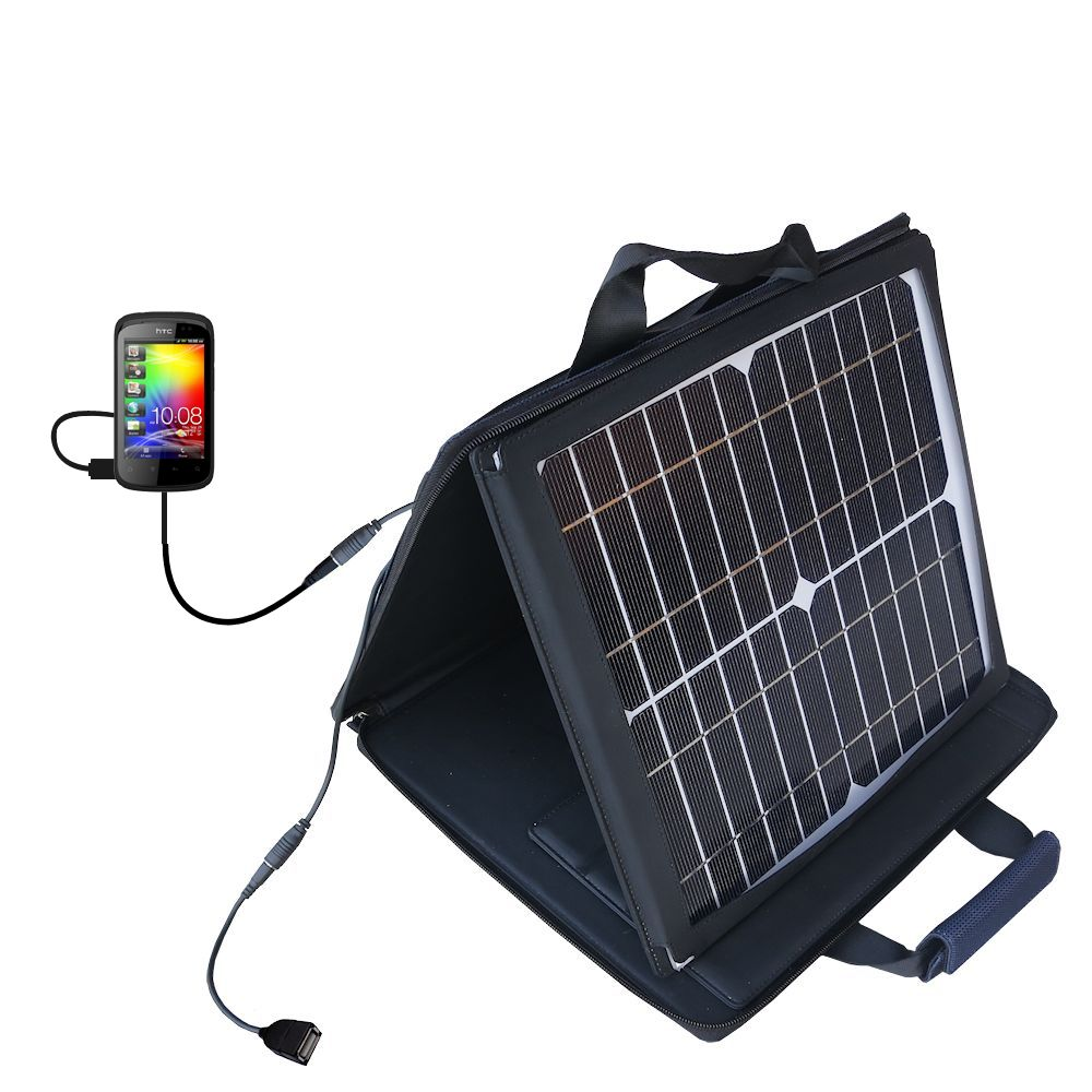 SunVolt Solar Charger compatible with the HTC Explorer and one other device - charge from sun at wall outlet-like speed