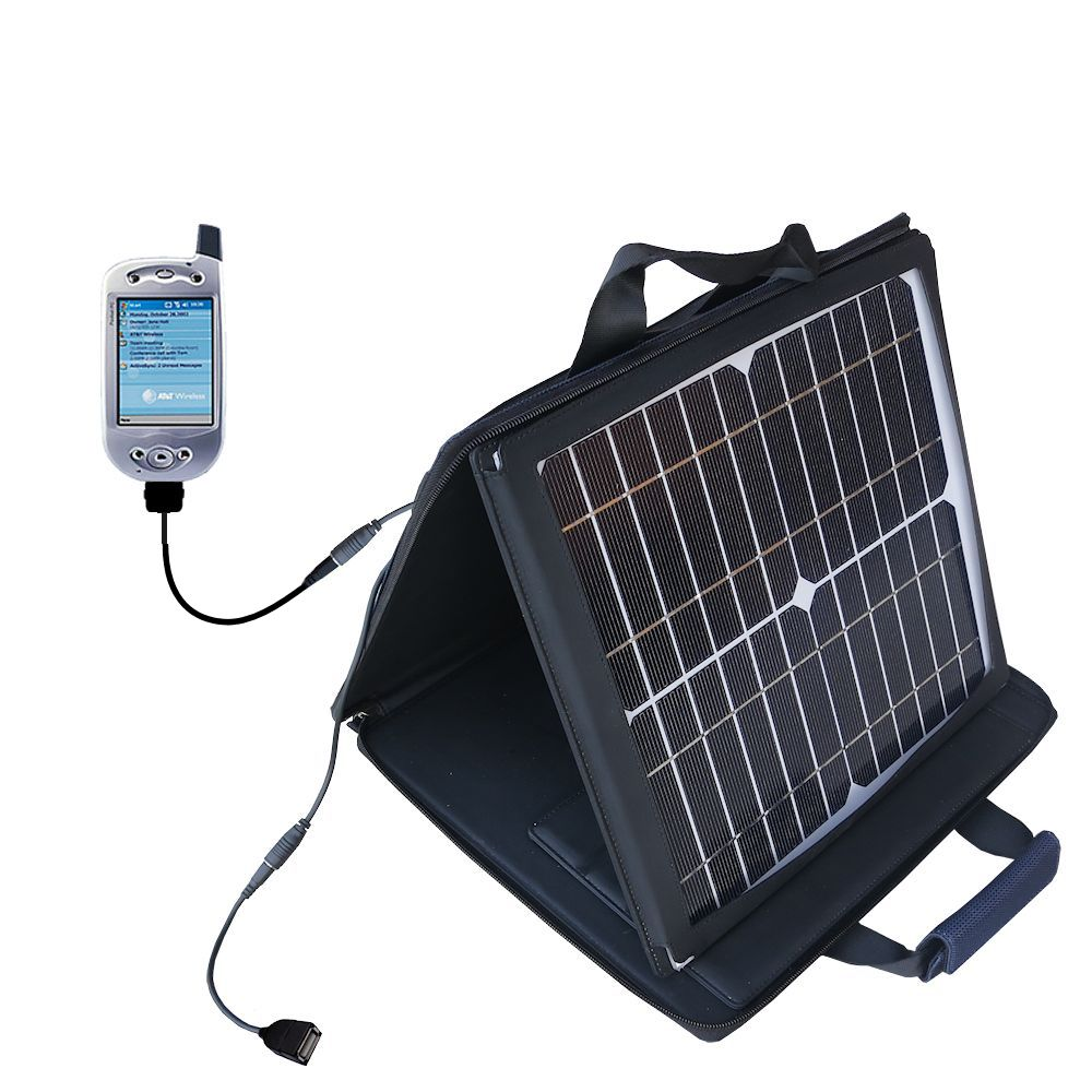 SunVolt Solar Charger compatible with the HTC Falcon Smartphone and one other device - charge from sun at wall outlet-like speed
