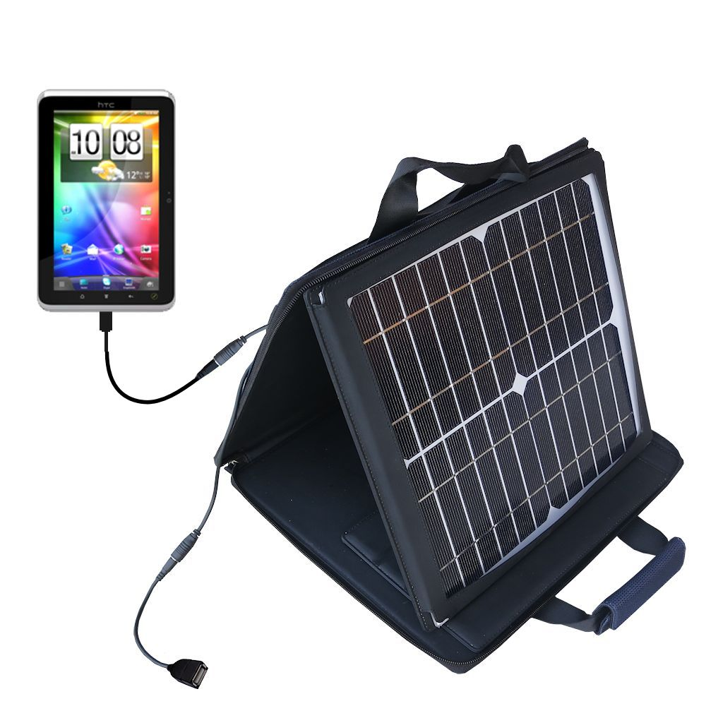 SunVolt Solar Charger compatible with the HTC Flyer and one other device - charge from sun at wall outlet-like speed