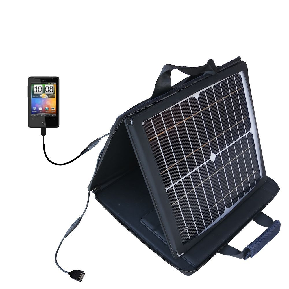 SunVolt Solar Charger compatible with the HTC Gratia and one other device - charge from sun at wall outlet-like speed