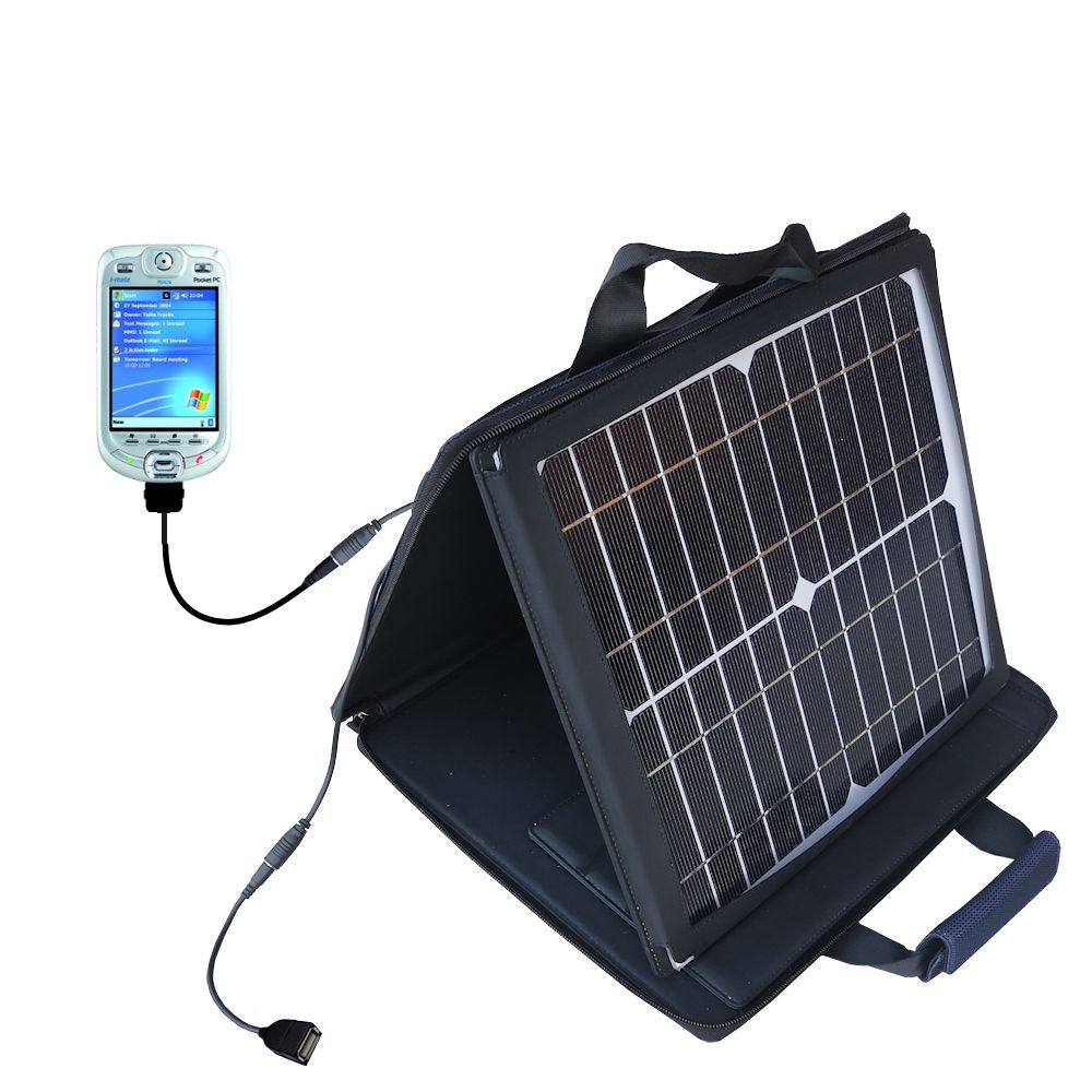 SunVolt Solar Charger compatible with the HTC Harrier Smartphone and one other device - charge from sun at wall outlet-like speed