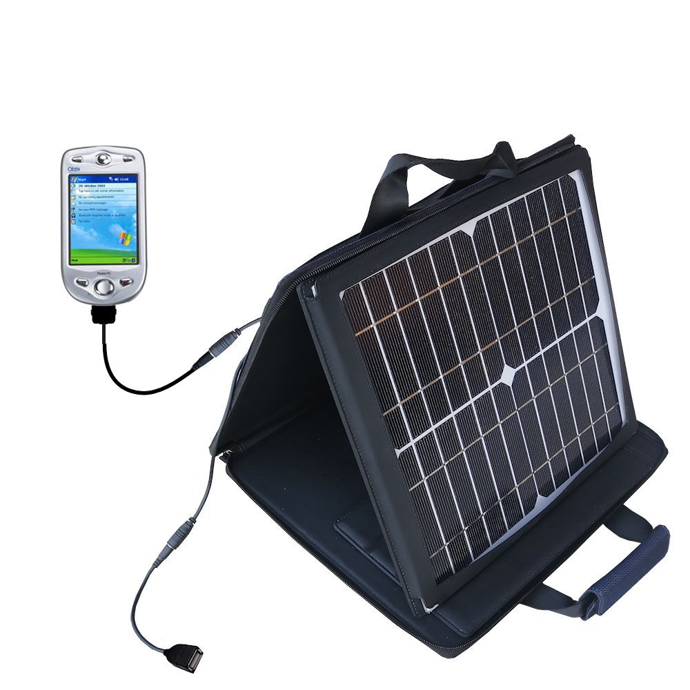 SunVolt Solar Charger compatible with the HTC Himalaya and one other device - charge from sun at wall outlet-like speed