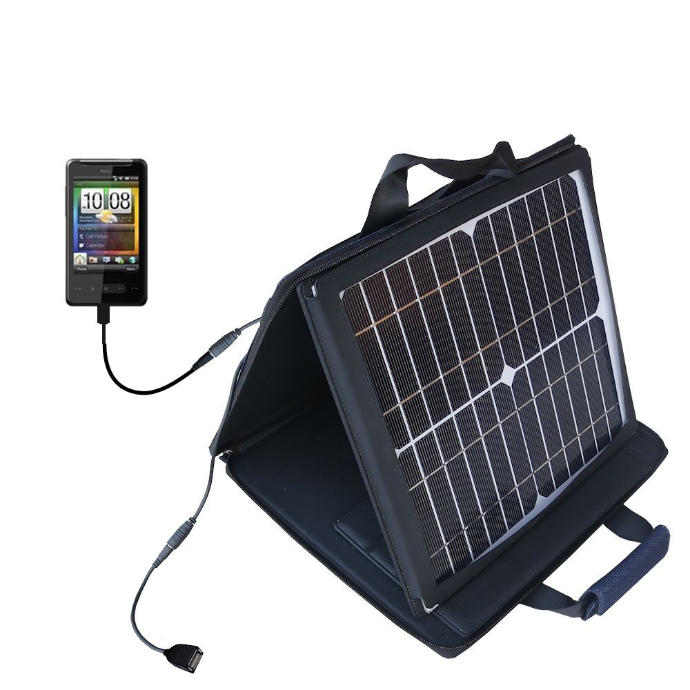 SunVolt Solar Charger compatible with the HTC HTC 7 Surround and one other device - charge from sun at wall outlet-like speed