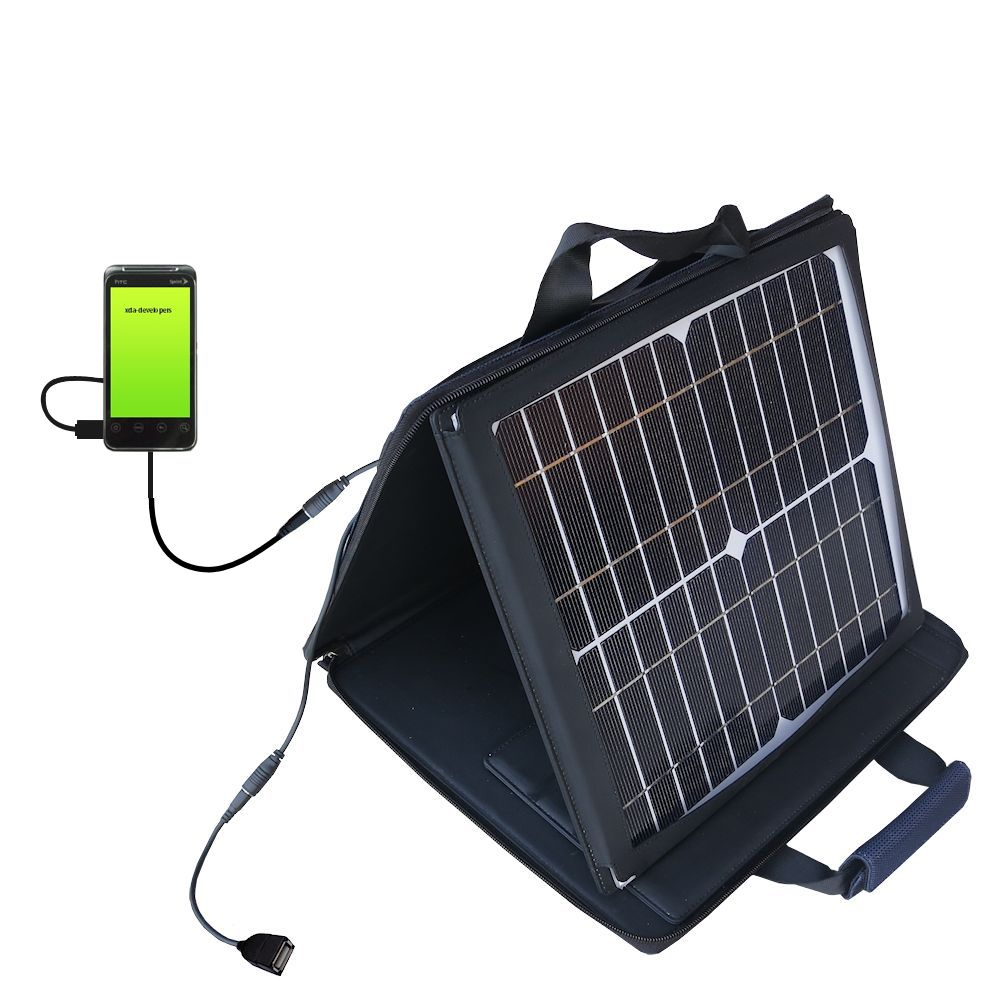 SunVolt Solar Charger compatible with the HTC Knight and one other device - charge from sun at wall outlet-like speed
