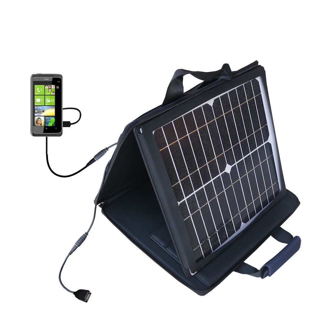 SunVolt Solar Charger compatible with the HTC Mazaa and one other device - charge from sun at wall outlet-like speed