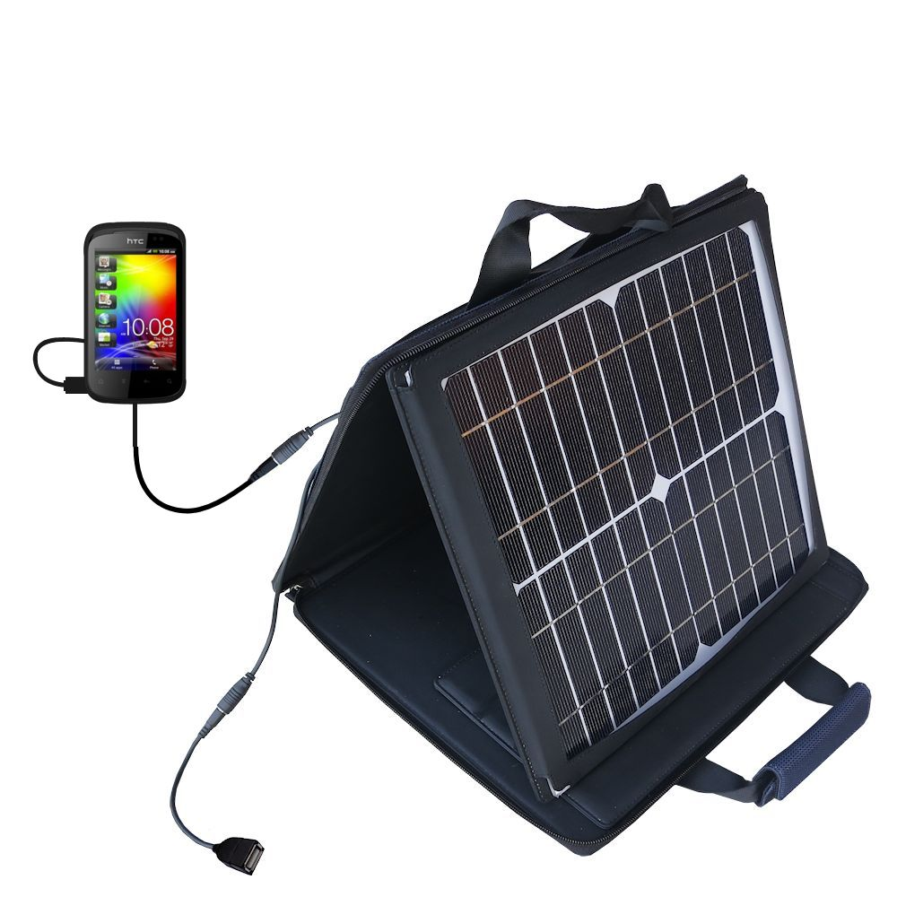 SunVolt Solar Charger compatible with the HTC Pico and one other device - charge from sun at wall outlet-like speed