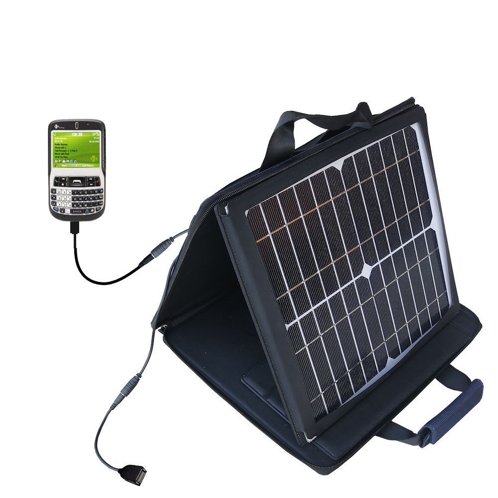 SunVolt Solar Charger compatible with the HTC S620 S620c and one other device - charge from sun at wall outlet-like speed