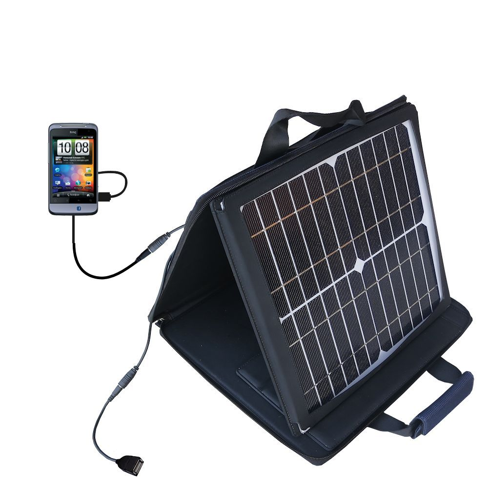 SunVolt Solar Charger compatible with the HTC Salsa and one other device - charge from sun at wall outlet-like speed