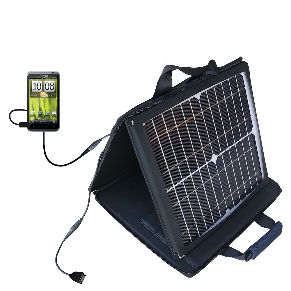 SunVolt Solar Charger compatible with the HTC Thunderbolt and one other device - charge from sun at wall outlet-like speed