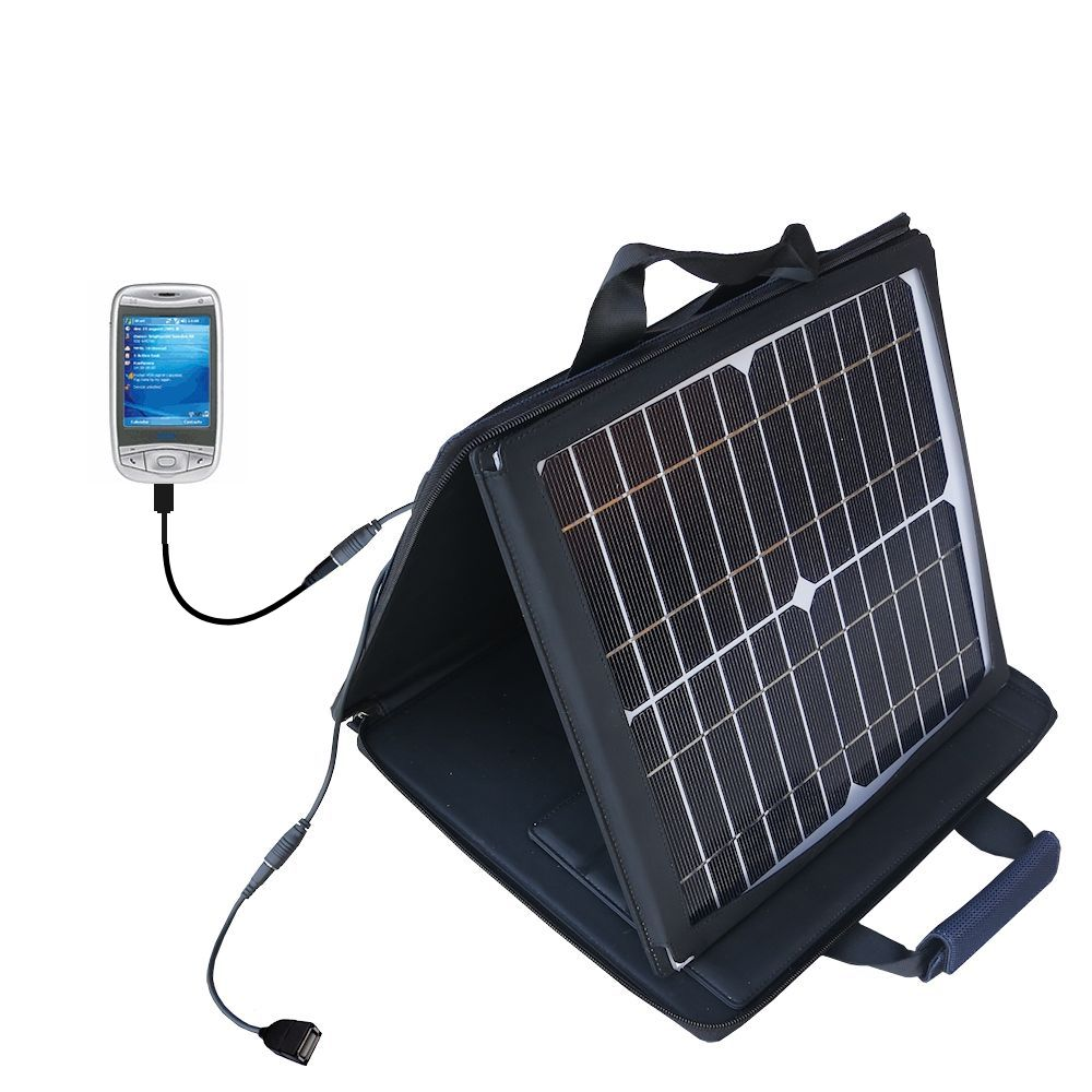 SunVolt Solar Charger compatible with the HTC Wizard and one other device - charge from sun at wall outlet-like speed