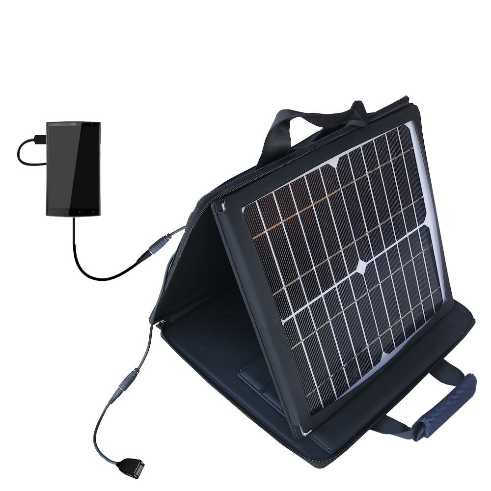SunVolt Solar Charger compatible with the HTC Zeta and one other device - charge from sun at wall outlet-like speed