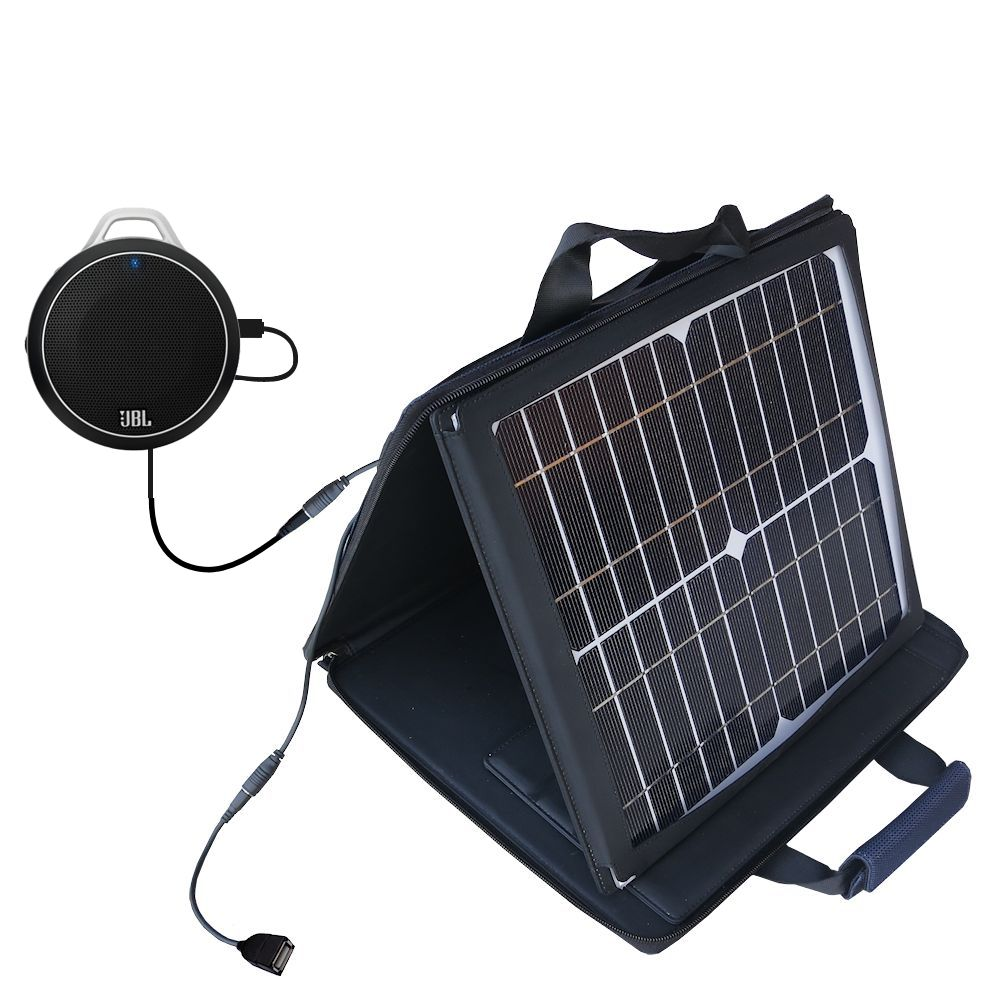 SunVolt Solar Charger compatible with the JBL Charge Micro and one other device - charge from sun at wall outlet-like speed