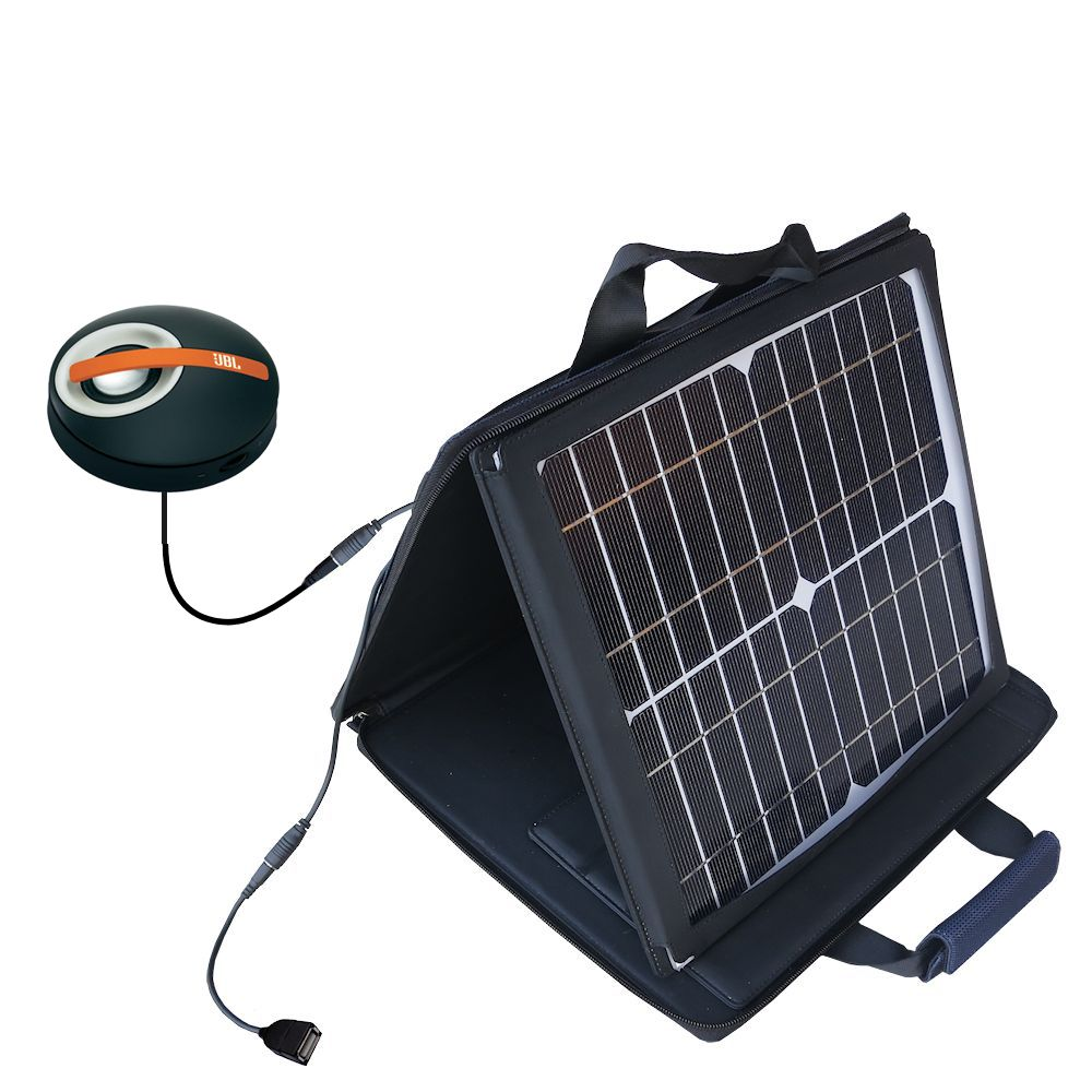SunVolt Solar Charger compatible with the JBL On Tour Micro and one other device - charge from sun at wall outlet-like speed